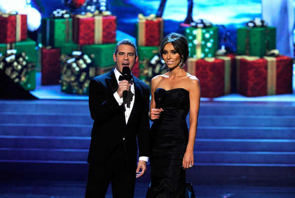 The energetic hosts of the 2012 edition, Andy Cohen and Giuliana Rancic.