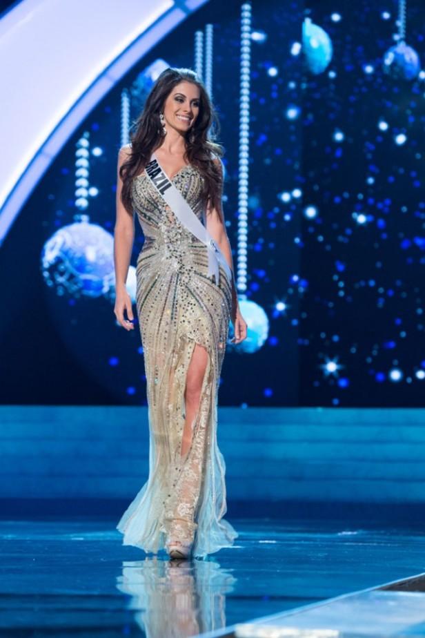 Brazil's Gabriela Markus in her magnificent gown.