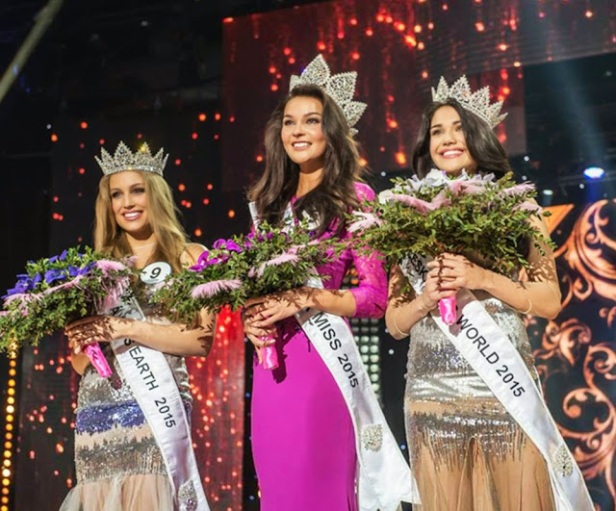 (L-R) Ceska Miss Earth 2015, the Ceska Miss 2015, and Ceska Miss World 2015