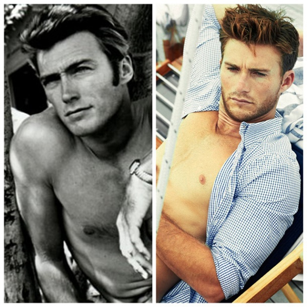 Who is hotter? The young Clint Eastwood or his son Scott Eastwood?